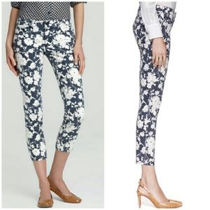 Tory Burch Alexa Cropped Floral Skinny Jeans 27